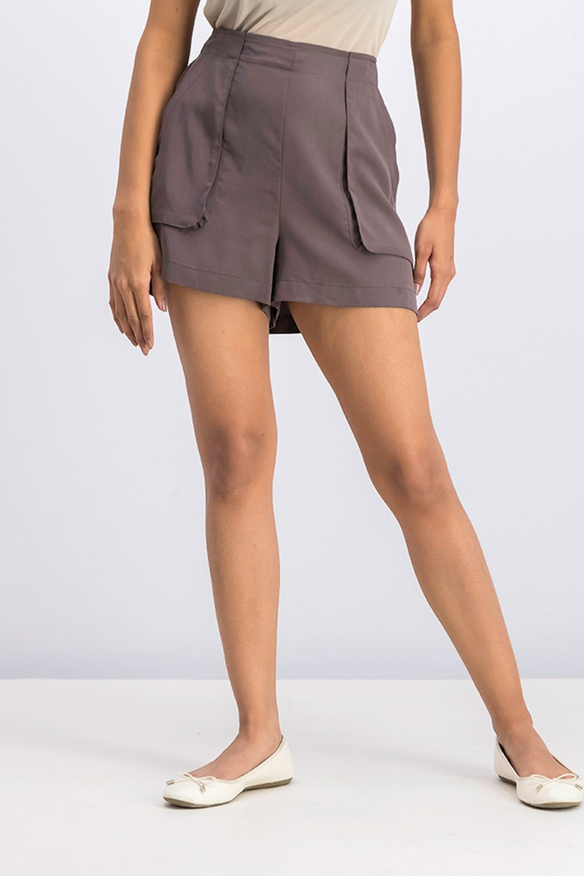 Women's Patch Pocket Utility Shorts, Coffeebean