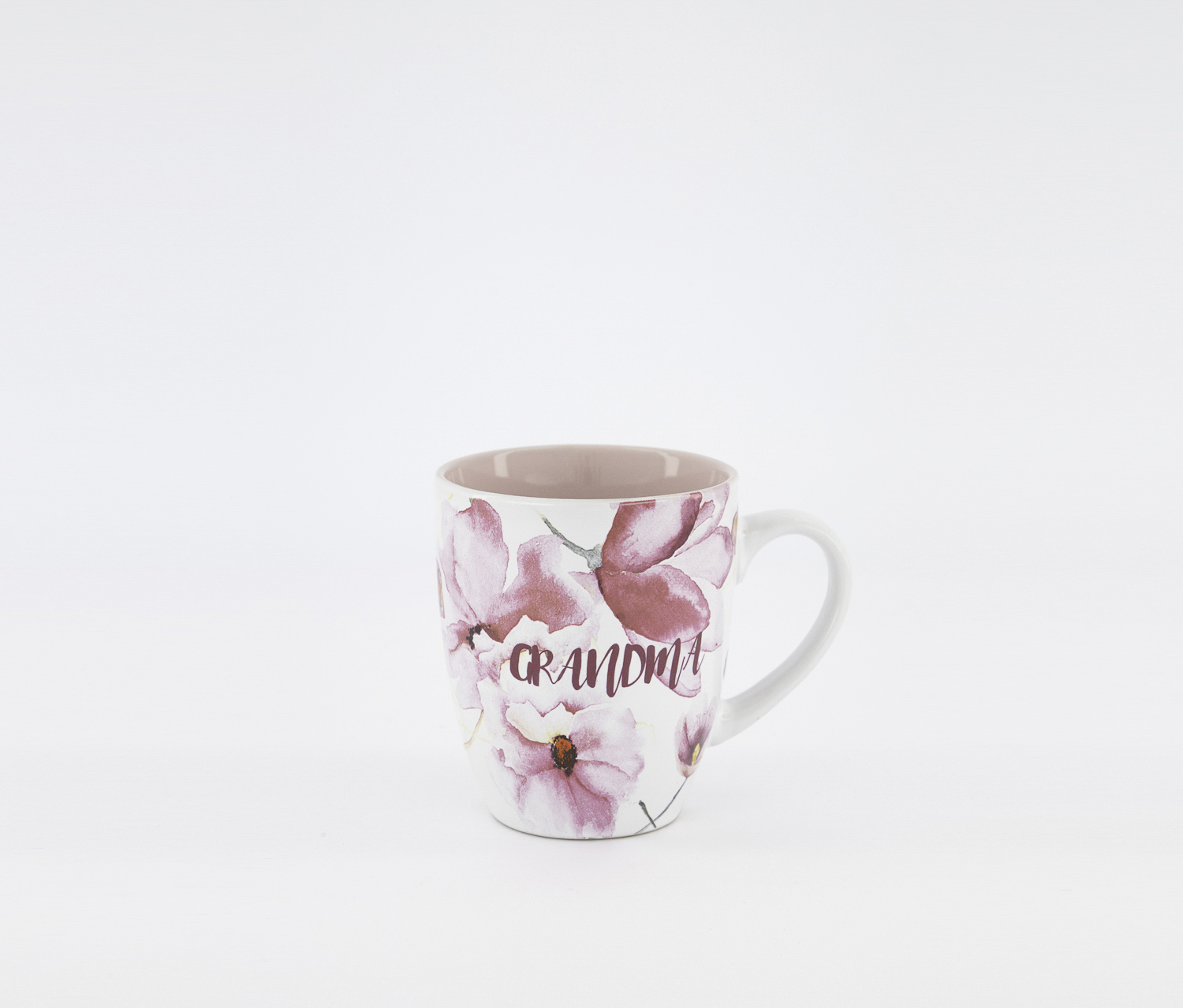 Printed Mugs, White/Pink