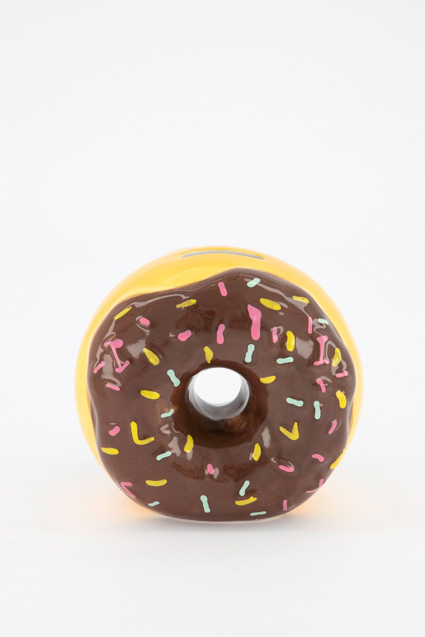 Hazel & Co Doughnut Coin Bank, Brown