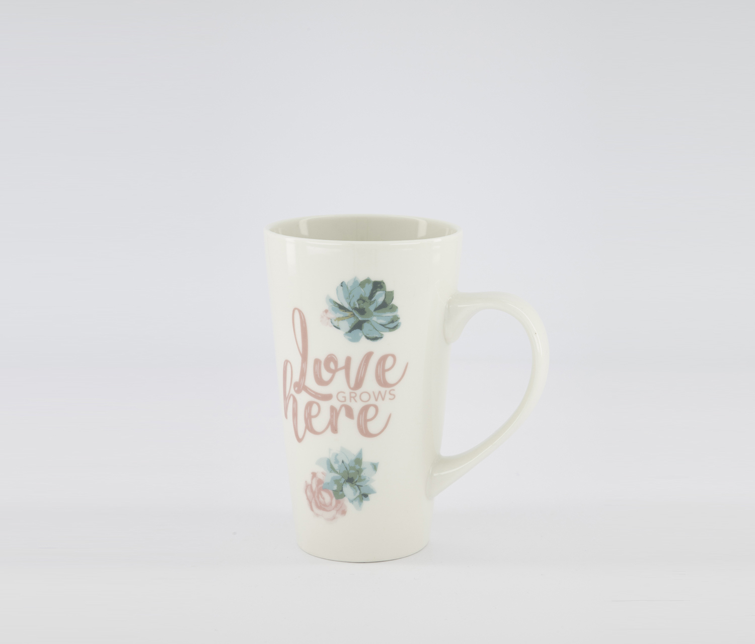 Love Grow Here Coffee Mugs, White