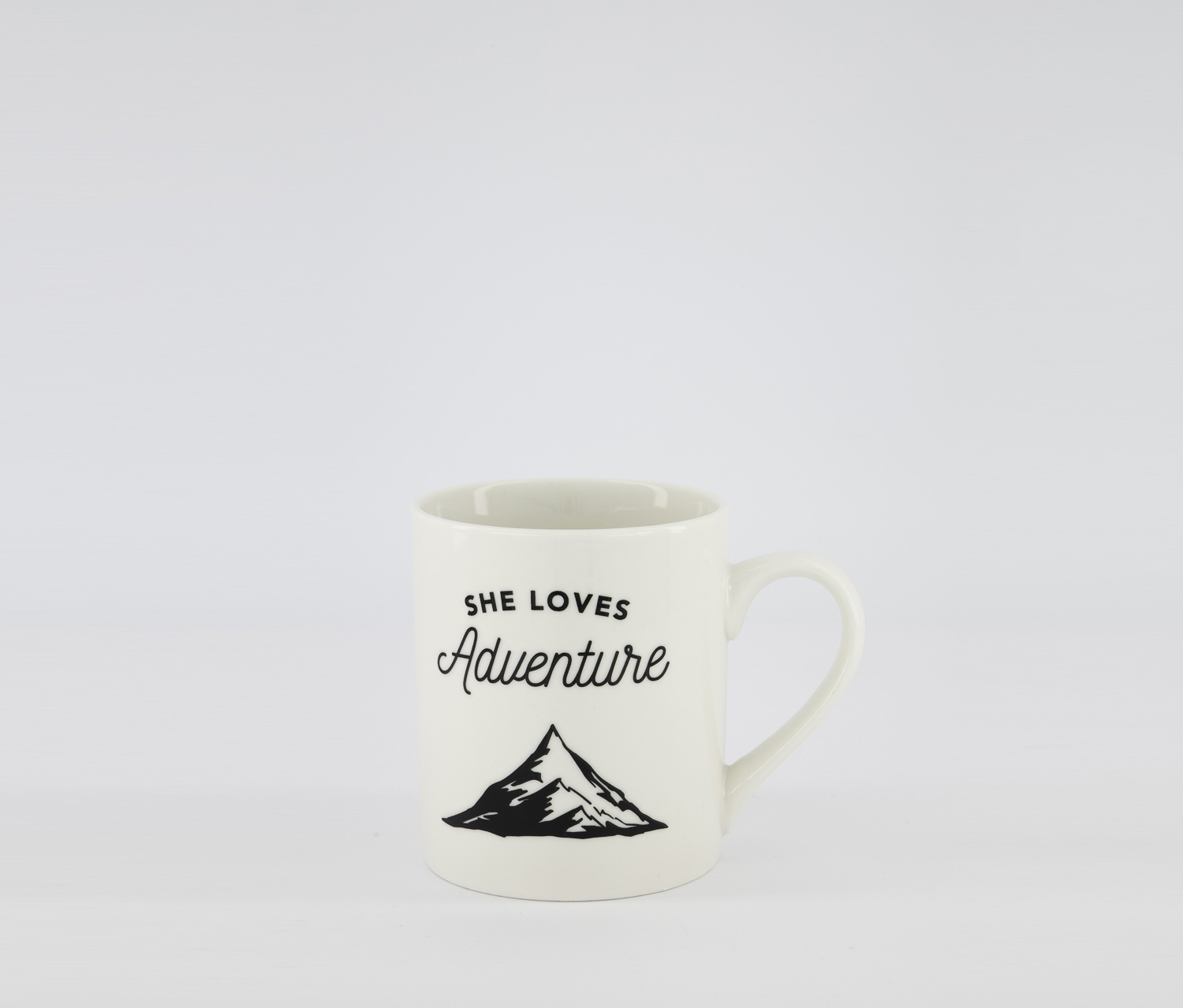 She Loves Adventure Coffee Cup, White