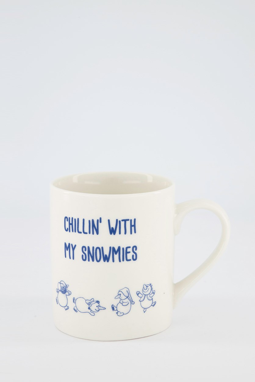 Chillin With My Snowmies Mugs, White