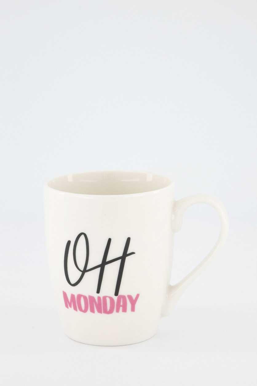 Oh Monday Coffee Mugs, White