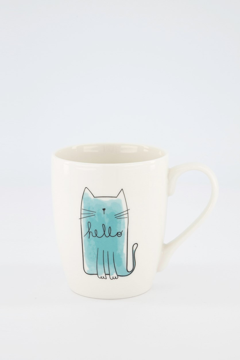 Bullet Cat Mugs, White