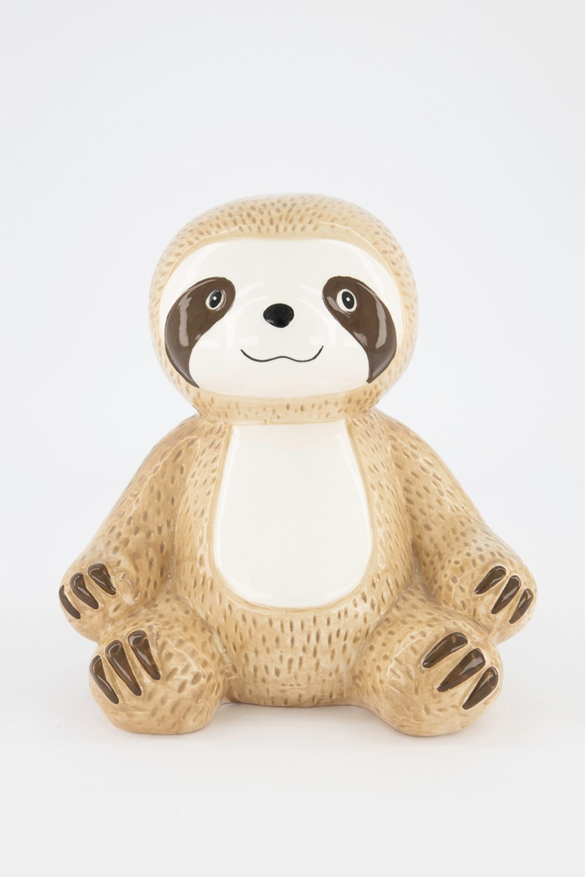 Sloth Coin Bank, Tan