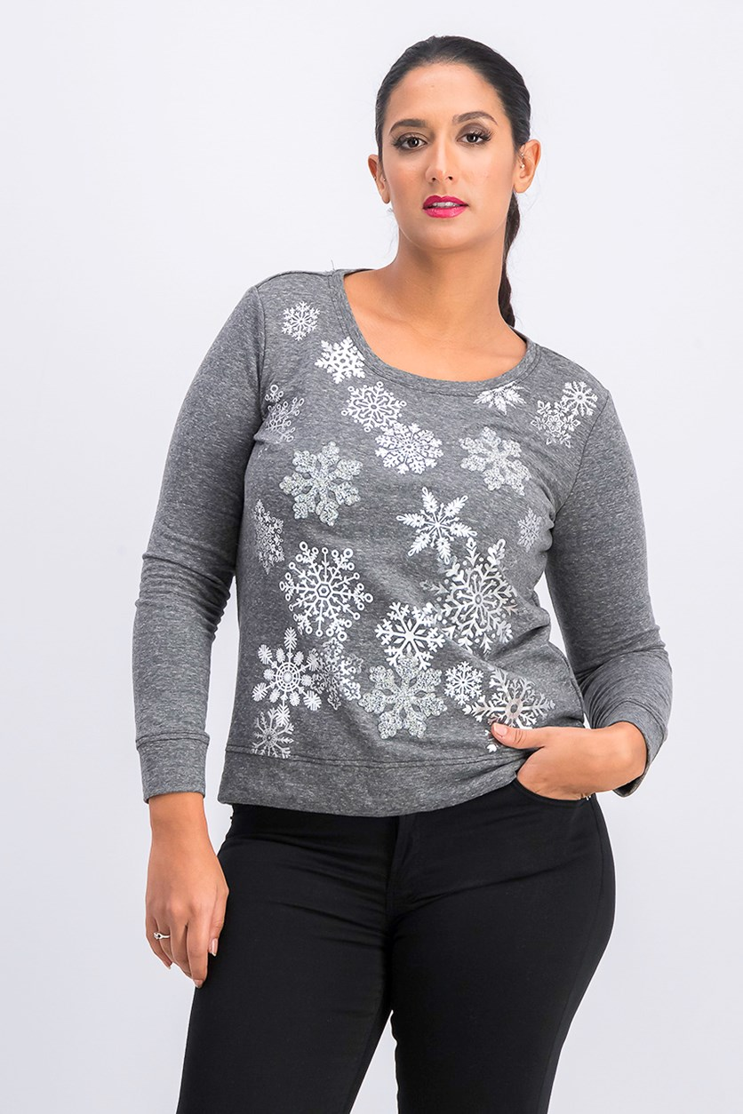 Women's Petite Sweatshirt, Grey