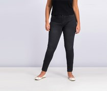Style & Co Faux-Fly Skinny Jeans, Black