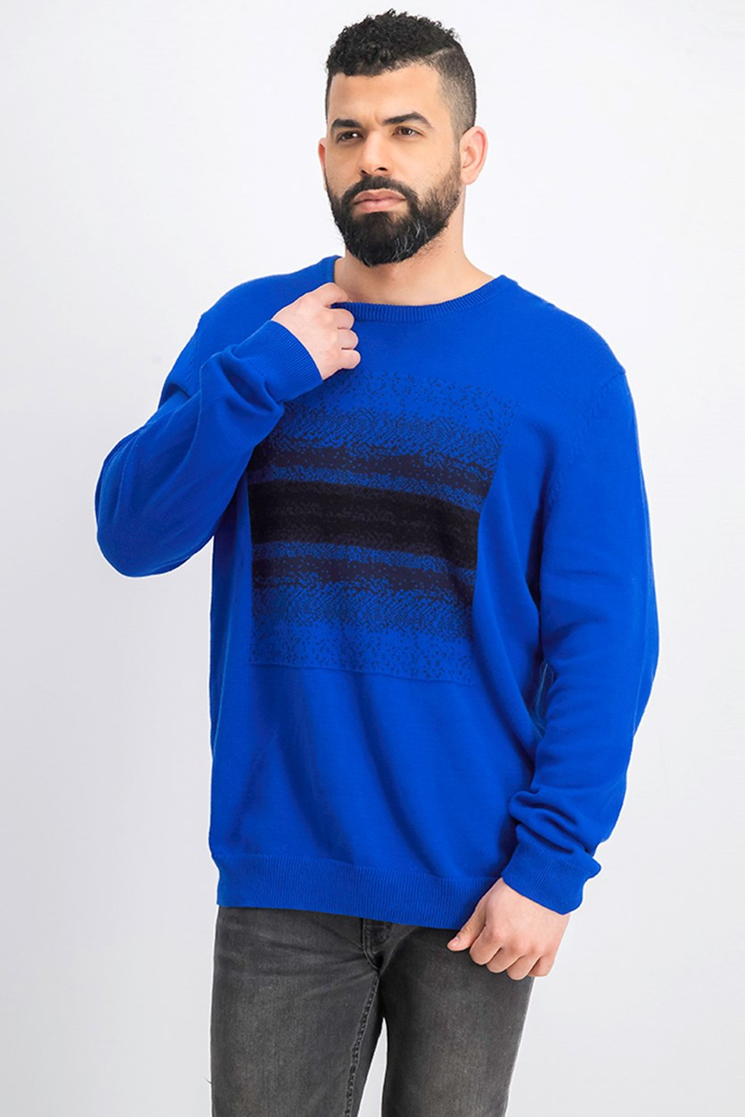 Men's Ombre Chenille Sweater, Blue/Black