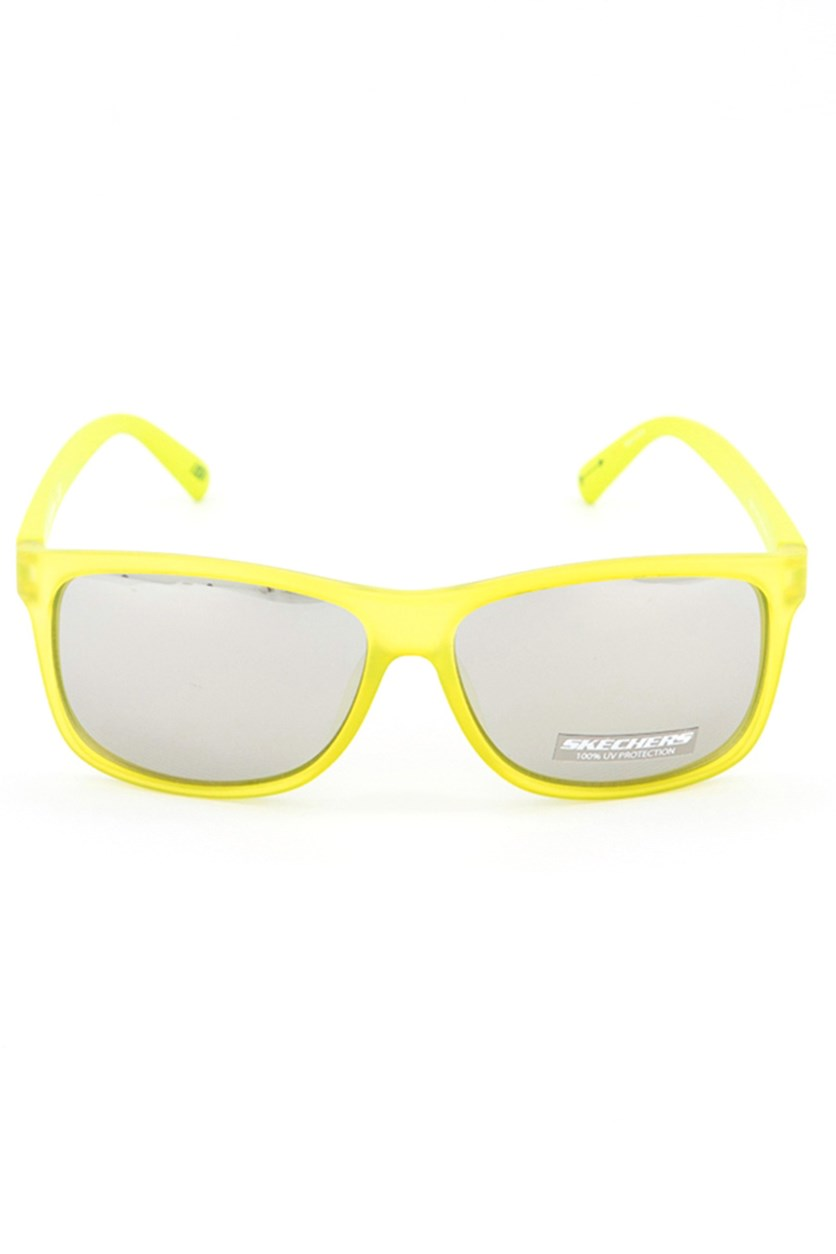 SE6015 94C Men's Sunglasses, Lime Green