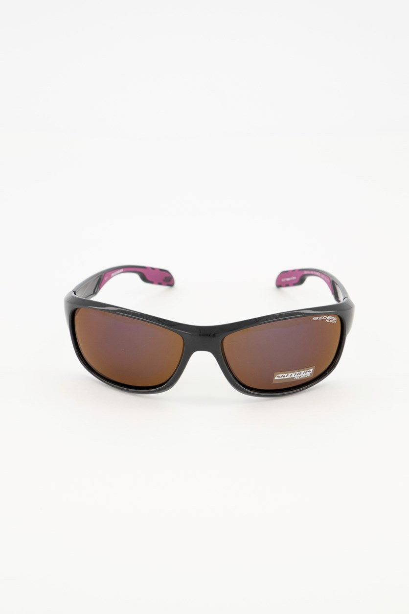 SE5133 05D Unisex Sunglasses, Black/Purple