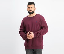 IZOD Mens Advantage Fleece Sweater Shirt, Burgundy