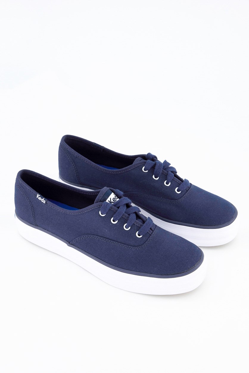 Triple Peacot Woman's Casual Shoes, Navy