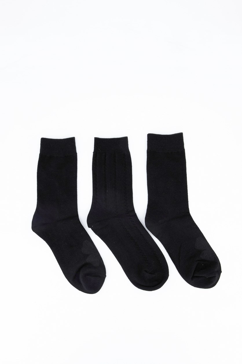 3 Pair of Socks, Black