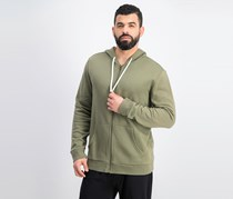 Club Room Mens Full-Zip Hoodie Sweatshirt, Olive