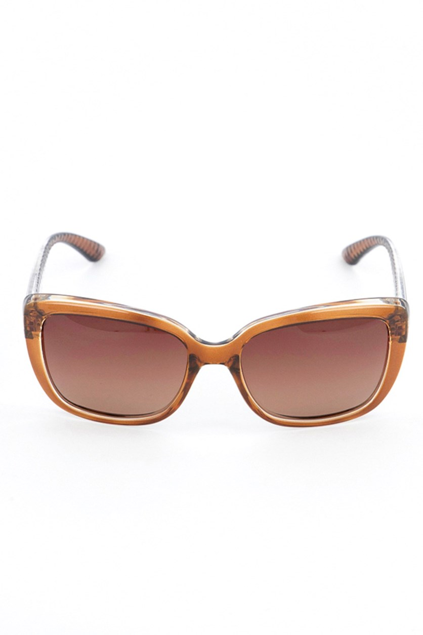SE4120 BRN-34P Women's Sunglasses, Brown/Clear