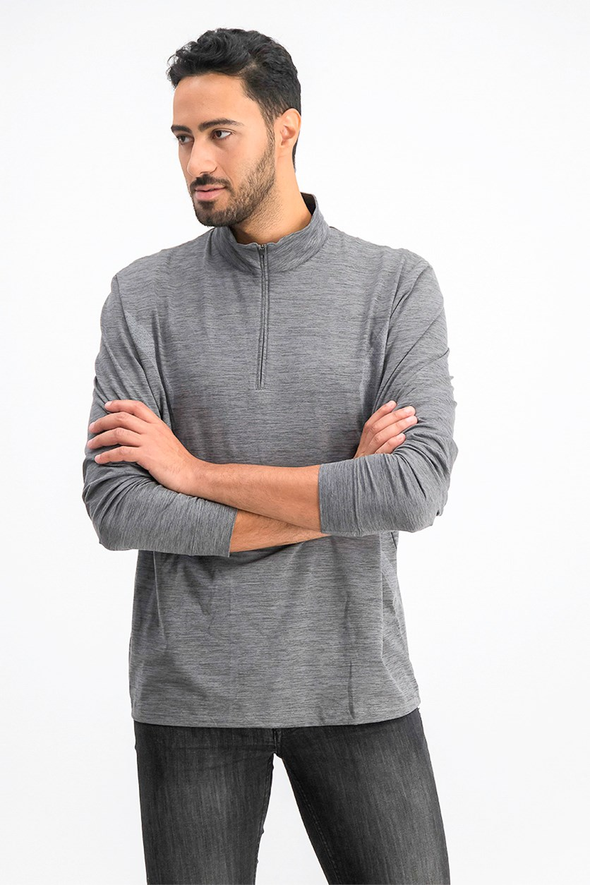 Men's Water Repellent Pigment Print Pullover, Grey