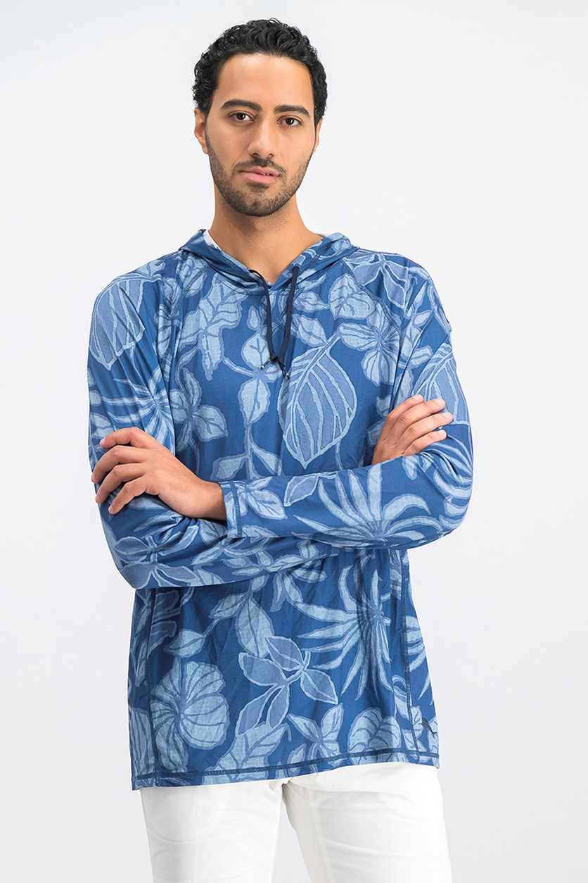 Men's Playa Mambo Hooded Shirt, Atlantic