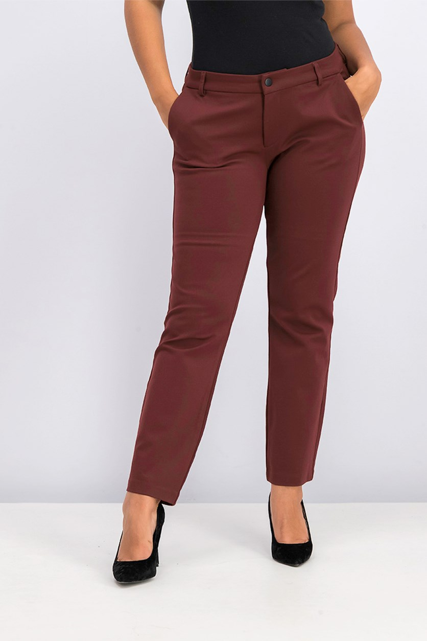 Women's Straight Leg Pants, Rust
