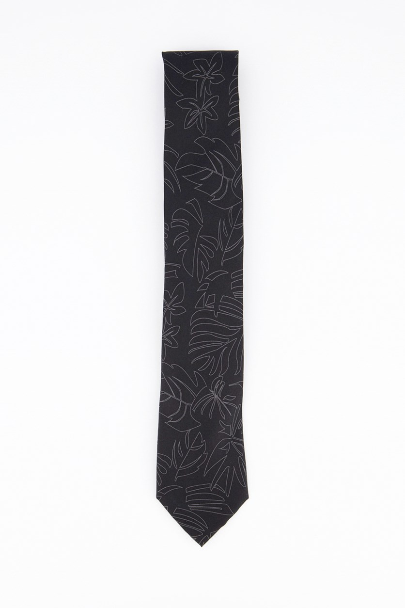 Men's Holiday Unsolid Solid Tie, Black