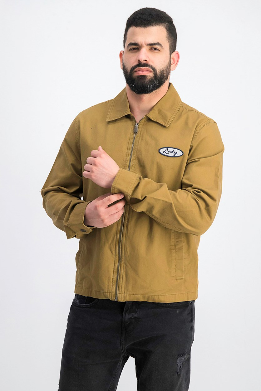 Men's Gas Station Jacket, Beige/Khaki