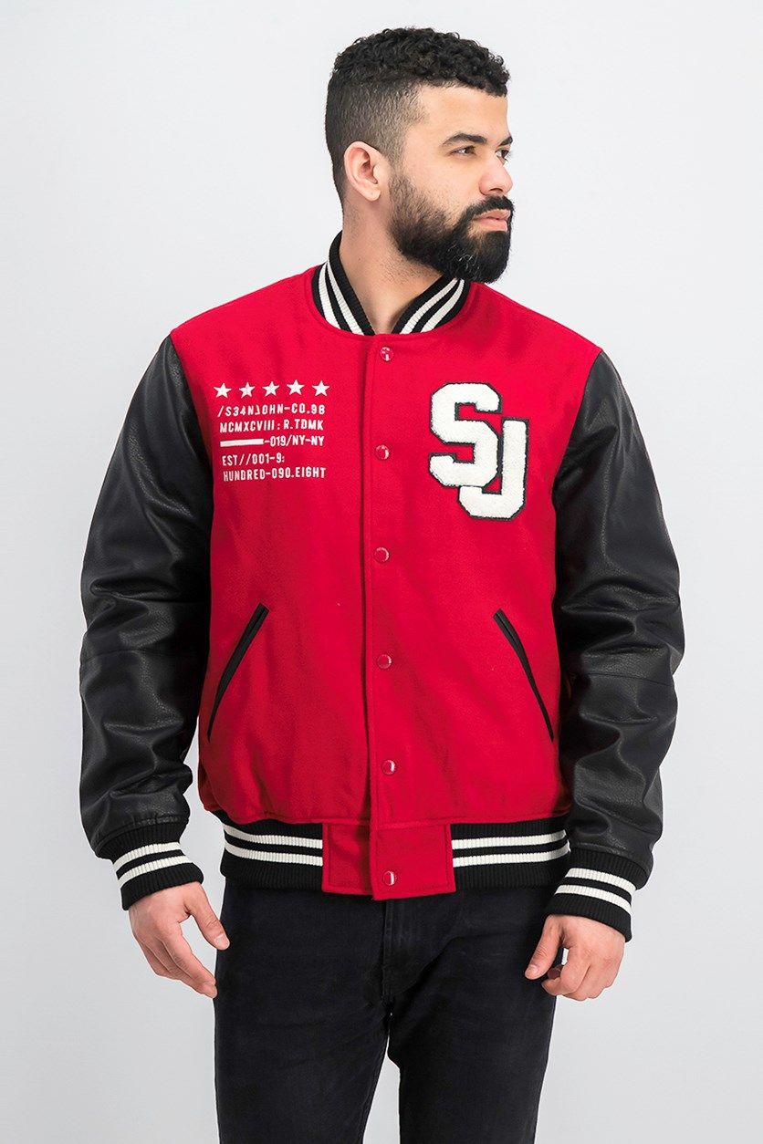Men's Varsity Jacket, Red