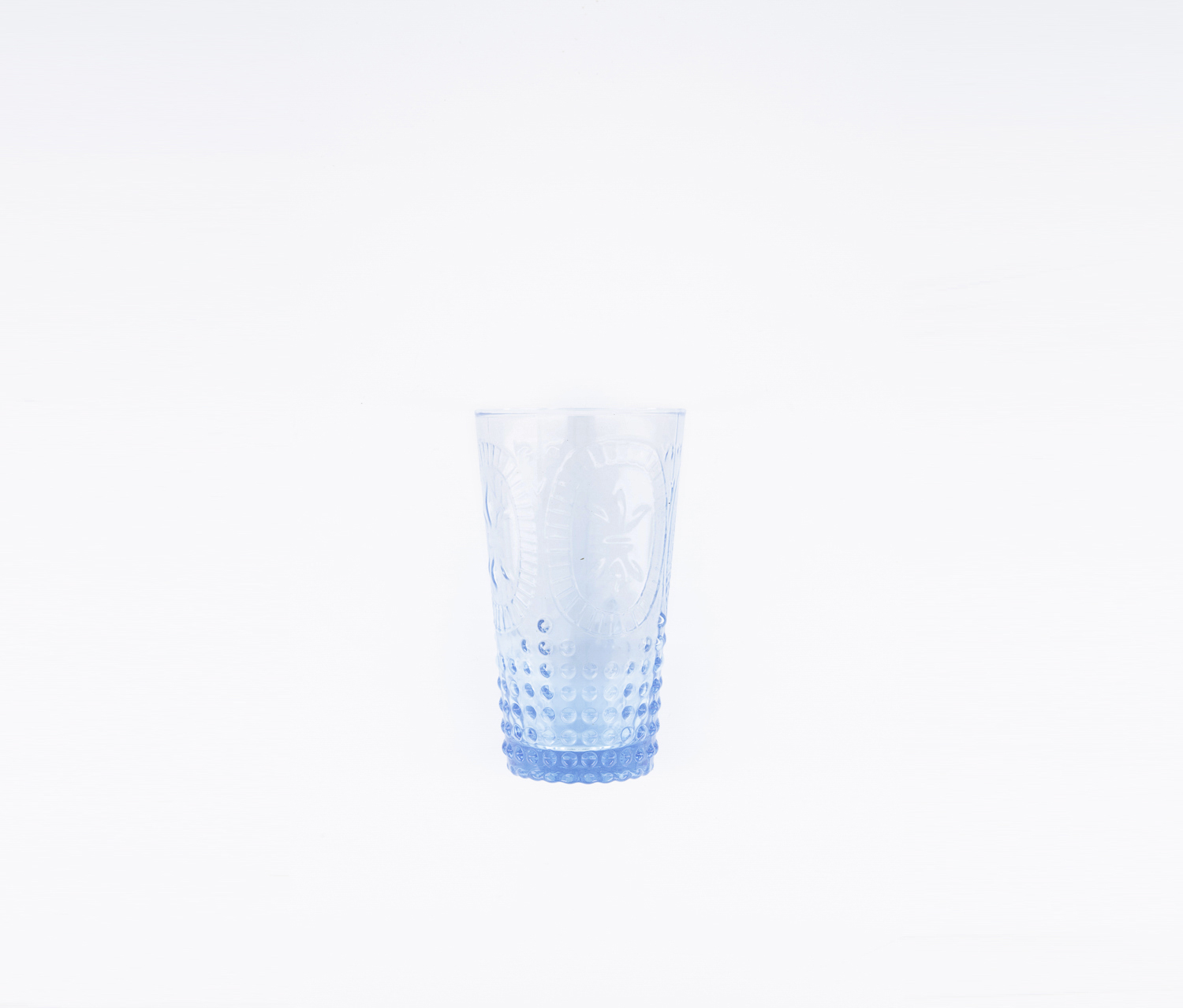 Vintage Hobnail Juice Glass, Blue