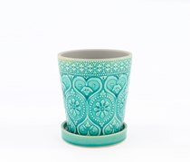 Home Collection Heart Fitted Planters, Aqua