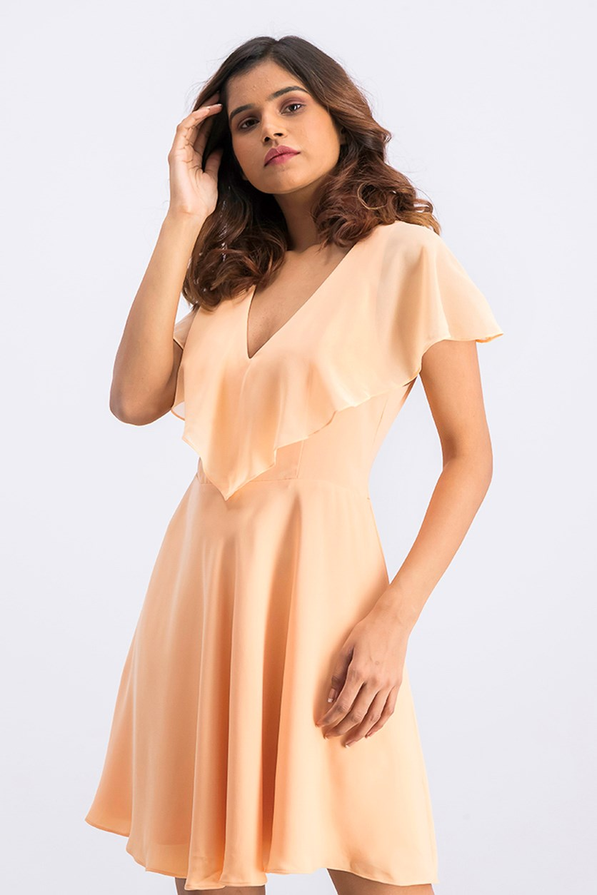 Women's Cheyenne V-Neck Dress, Coral