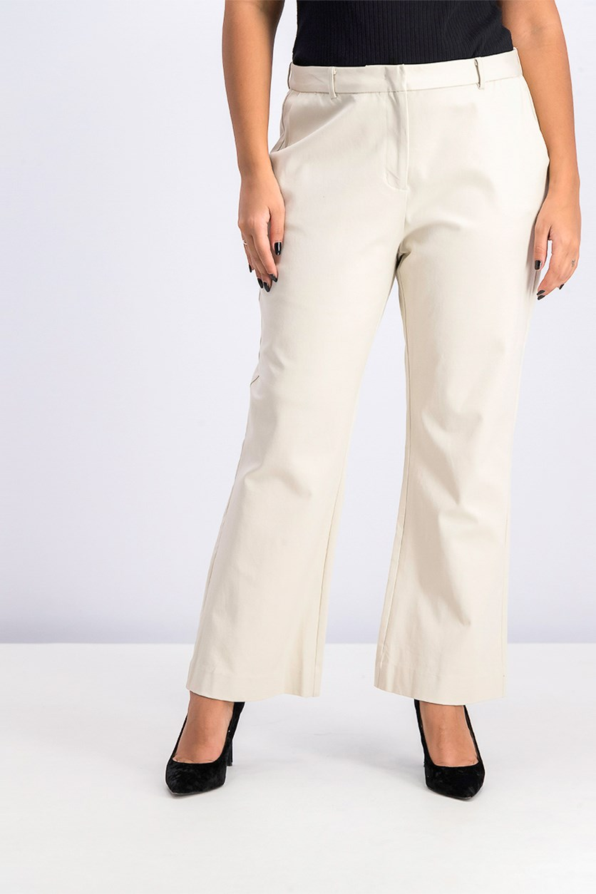 Flared Ankle Pants, Sea Glass