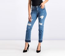 Guess Women Ripped Jeans, Blue Wash