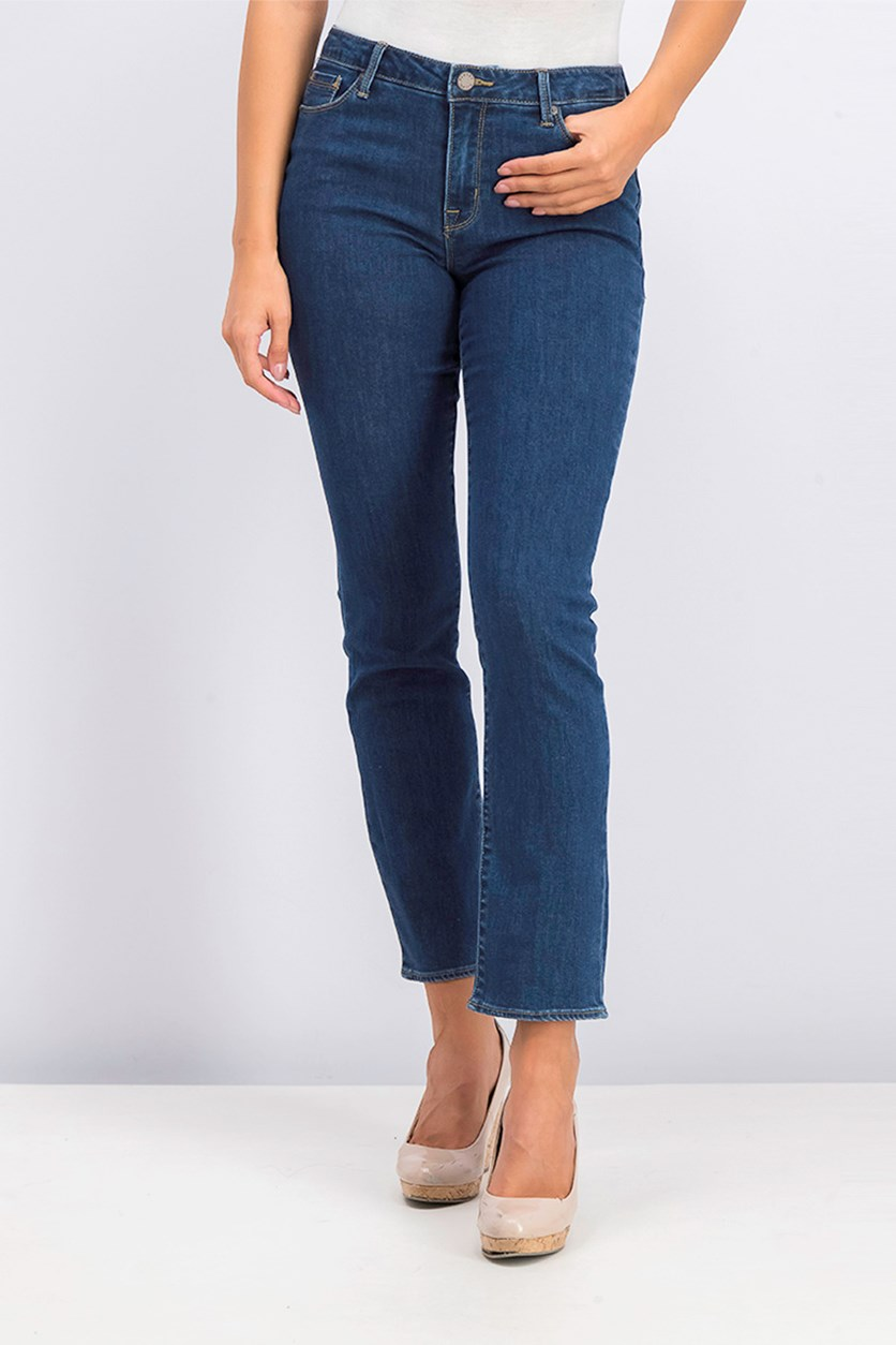 Women's Runaround Sue Stretch Straight Leg Jeans, Blue