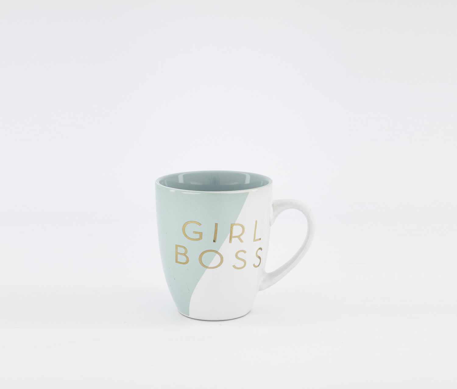 Girl's Boss Mugs, White/Baby Blue