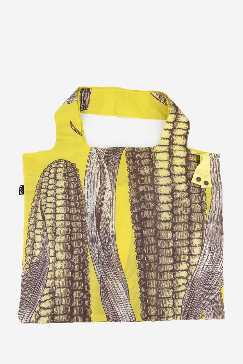 Women's Farm Corn Reusable Shopping Bag, Yellow/