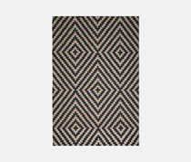 Chenille Tapestry Rug 69 x 114 cm, Navy/Brown