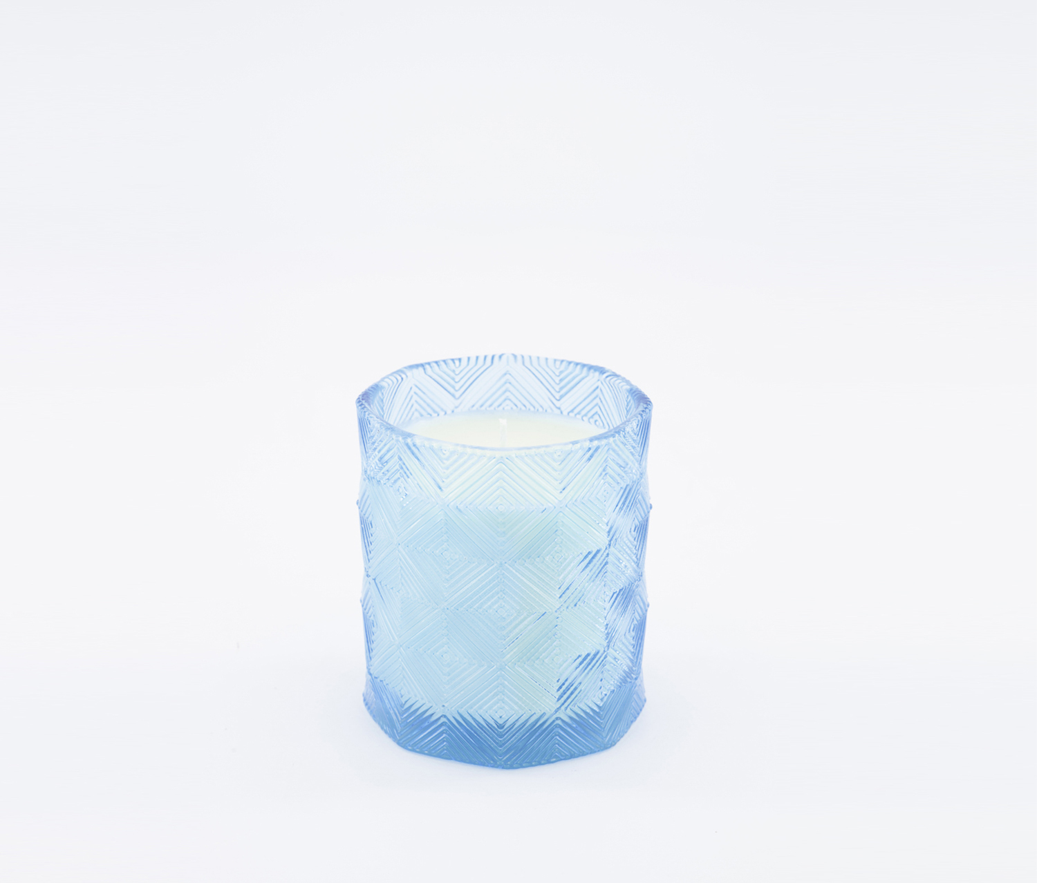 Summer Jasmine Scented Candle In A Glass Jar, Blue