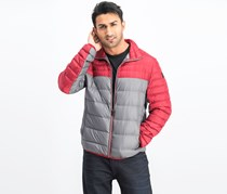 Men's Quilted Jacket, Red/Grey
