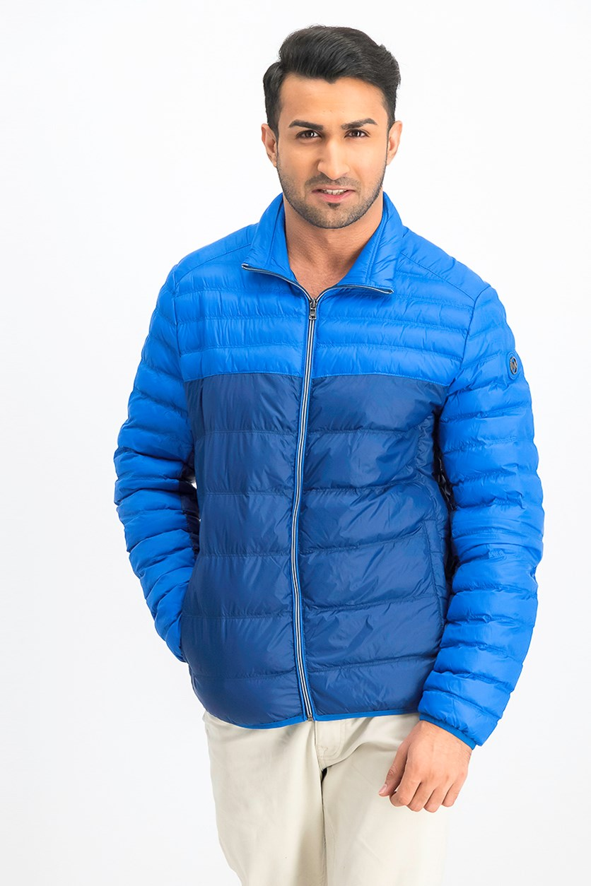 Men's Quilted Jacket, Sky Blue