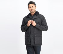 Men's Arietta Diamond Quilted Field Coat, Black