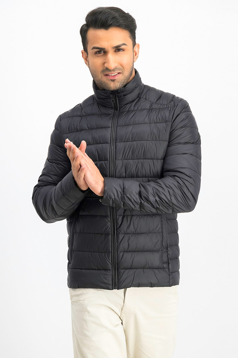 Men's Quilted Jacket, Black