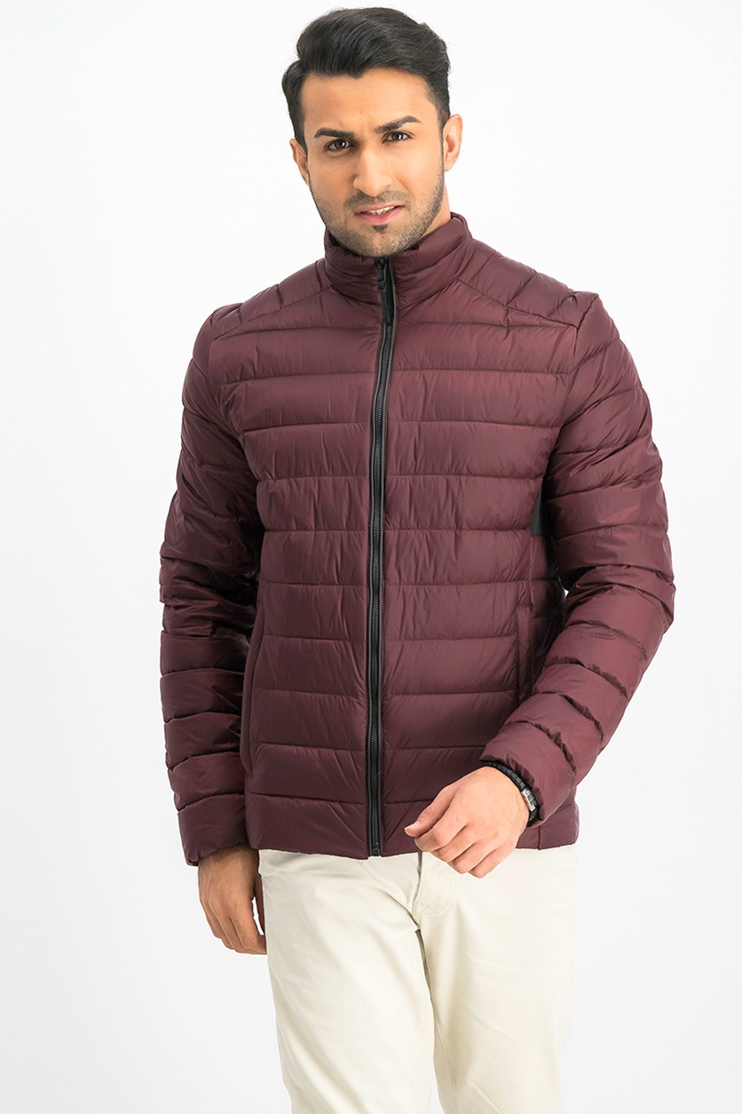 Men's Quilted Jacket, Ox Blood