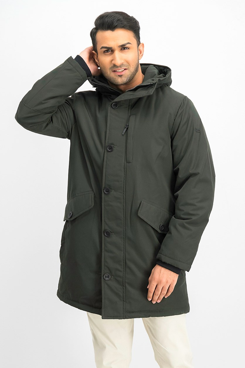 Men's Hooded Jacket, Dark Olive