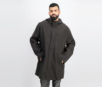 Men's Hooded Long Jacket, Charcoal