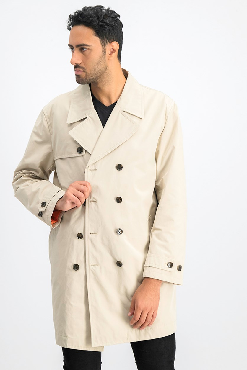 Men's Big & Tall Trench Coat, Light Sand
