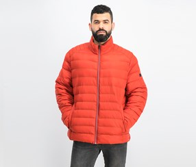 Men's Quilted Jacket, Red Ochre