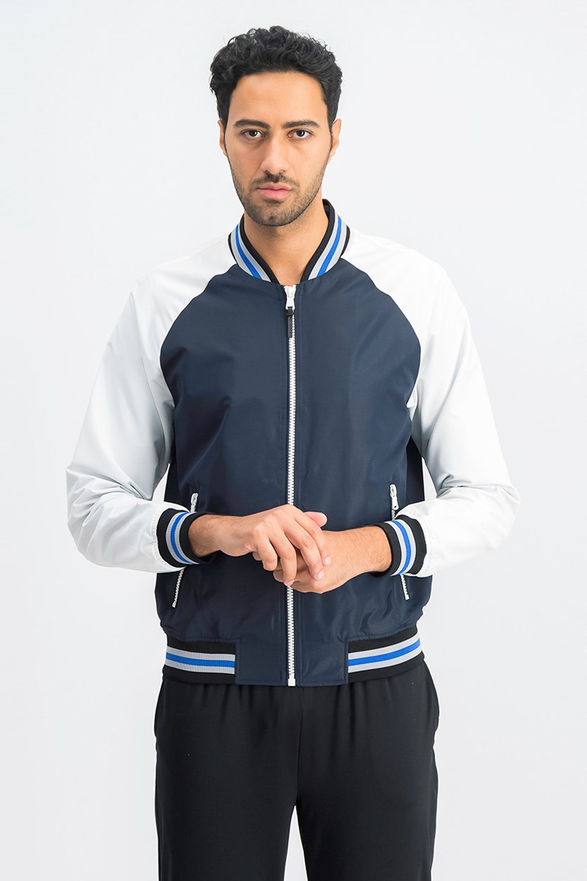 Men's Jacket, White/Navy
