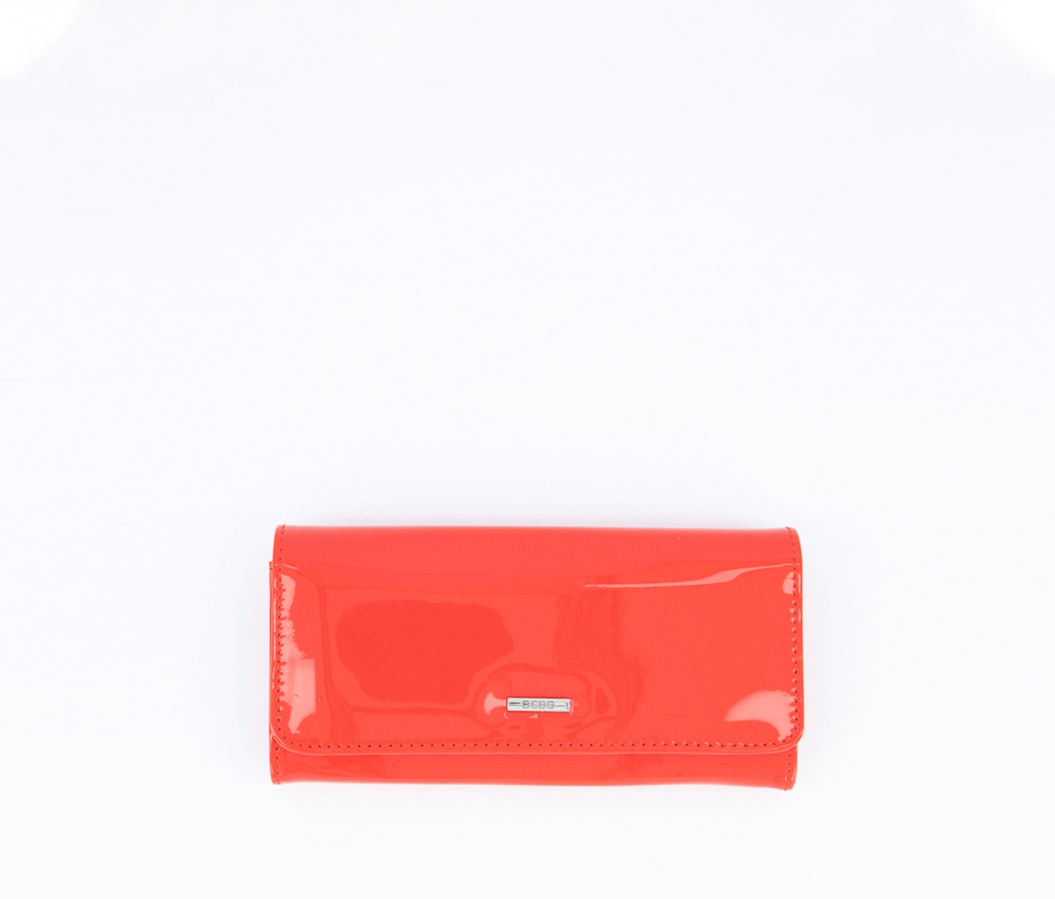 Zahara Patent Flap Wallet, Red