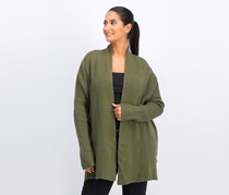 Textured Cardigan, Heather Green