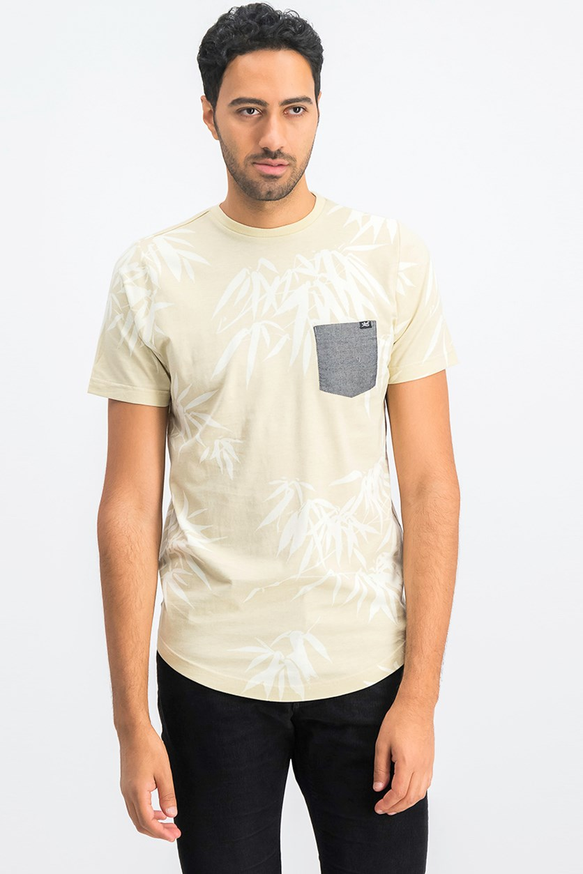 Men's Chest Pocket Tees, Beige