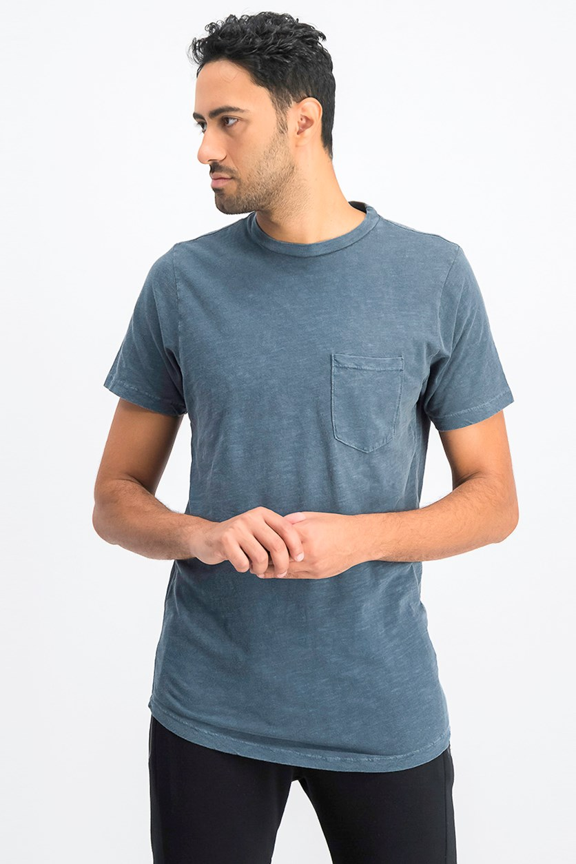 Men's Chest Pocket Tee, Denim