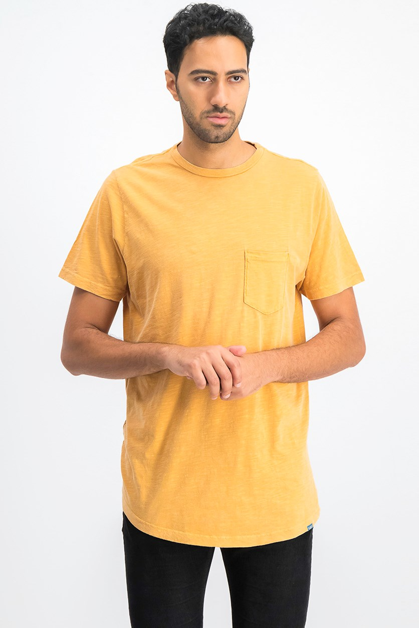 Men's Chest Pocket Tee, Gold